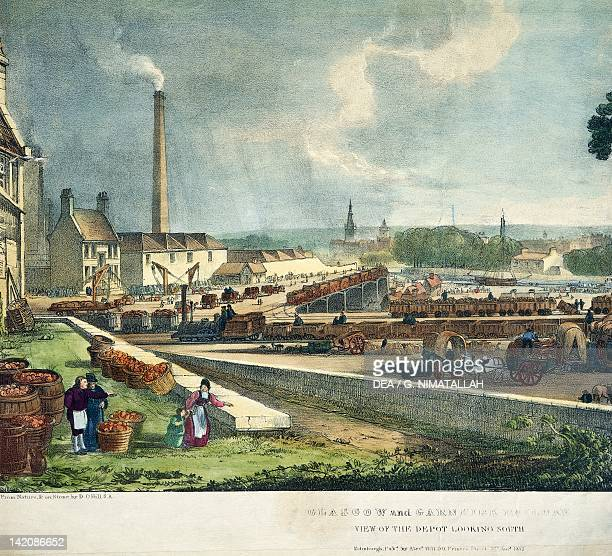 Railroad depot Glasgow Scotland 19th century