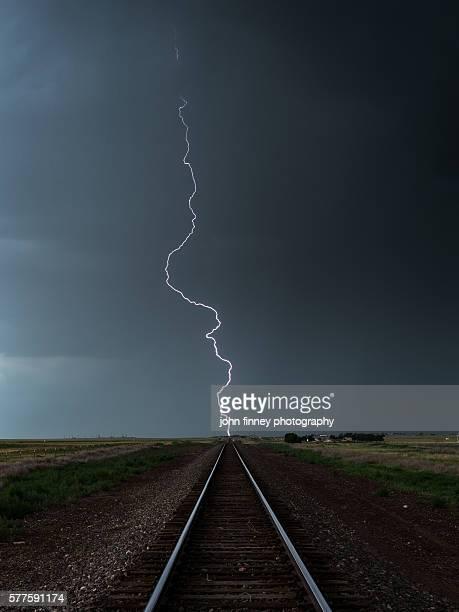 Railroad Lightning Bolt. McClave, Colorado, USA