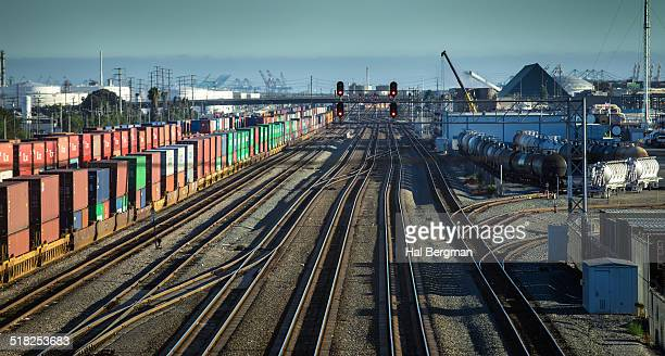 railroad mainline - carson california stock photos and pictures