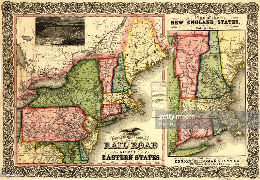 A railroad map shows New York, Pennsylvania, New Jersey ...