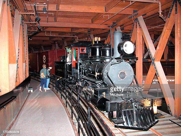 Railroad museum display old Sacramento California