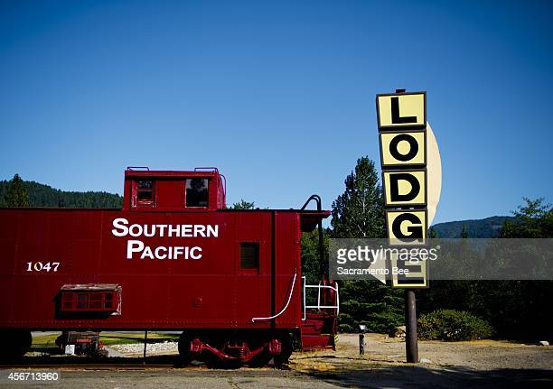 Railroad Park Resort in Dunsmuir, Calif., features train cars converted into rooms.
