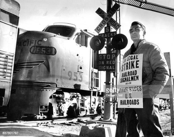 Railroad Signalman Pickets in Denver Ken Persichetti was at Union Station Monday morning Denver Rail Pickets Block Some Trains Credit Denver Post