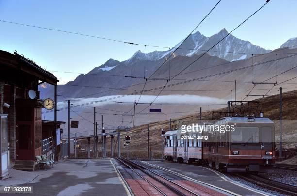Bahnhof in Morgen, Gornergrat Station, Schweiz