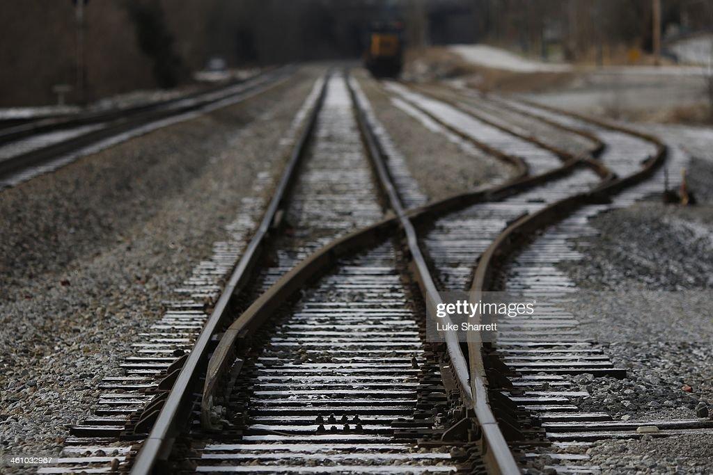 U.S. Rail Traffic Rises Following Holidays : News Photo