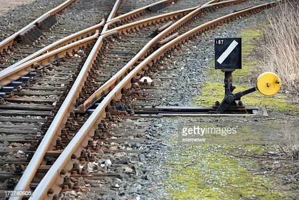 railroad switch - deterioration stock pictures, royalty-free photos & images
