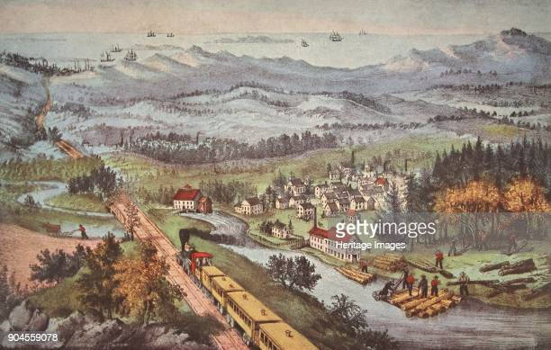Railroad Through to the Pacific pub 1870 Currier Ives