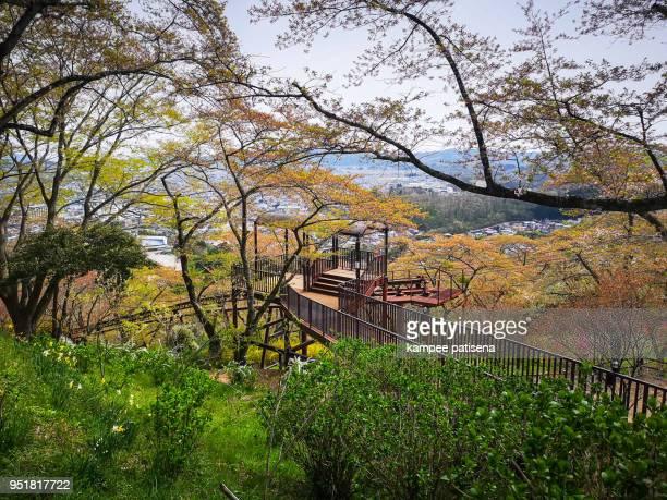 Railroad track for slope car in Funaoka sendai japan