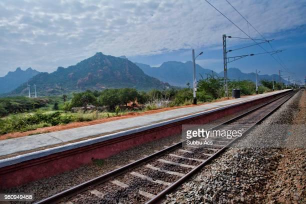 A railroad track in India.