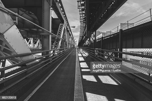 Railroad Track Passing Through Bridge