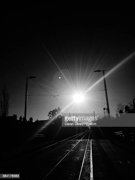 Railroad Tracks During Sunny Day