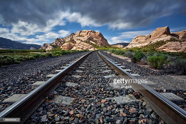 railroad tracks - tom grubbe stock pictures, royalty-free photos & images
