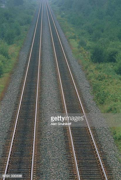 railroad tracks - sirulnikoff stock photos and pictures