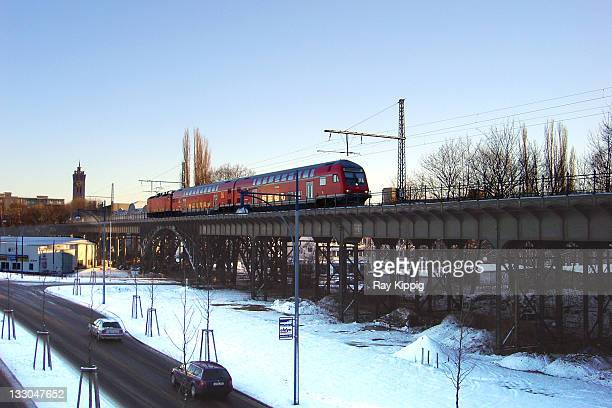 Railroad viaduct in the city of Chemnitz, Germany.