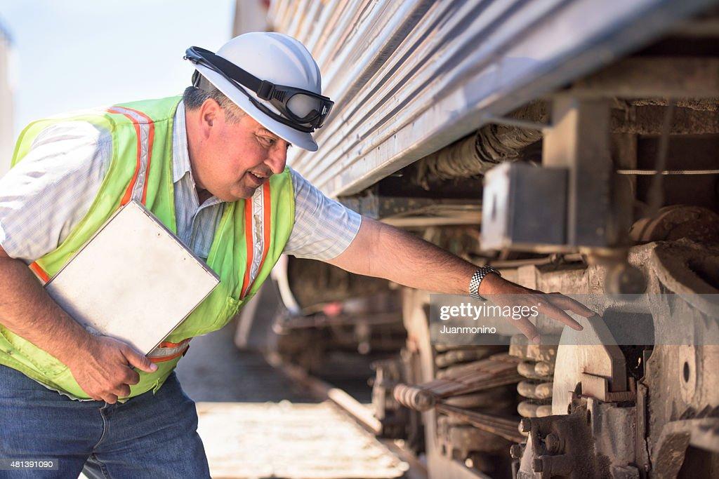 Railroad worker : Stock Photo