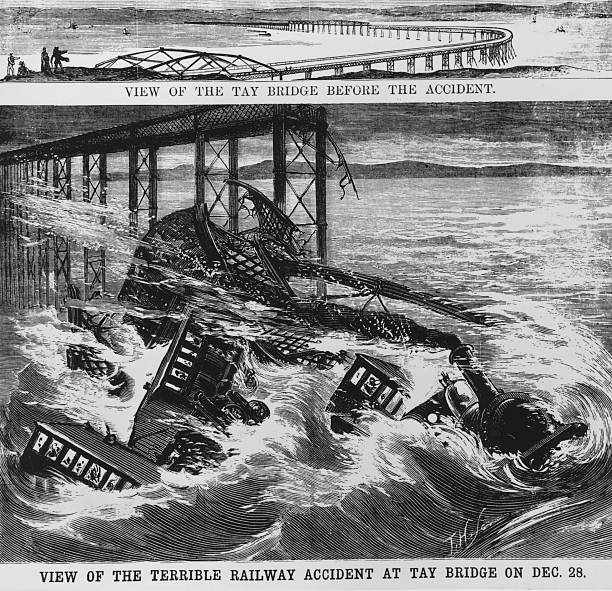 the original Tay Rail Bridge before a section collapsed...