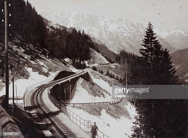 Railway between Präbichl and Eisenerz About 1880 Photograph by Adalbert Kurka / Eisenerz Photograph Eisenbahnstrecke zwischen Präbichl und Eisenerz...