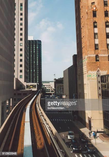 railway bridge in city - bortes stock pictures, royalty-free photos & images