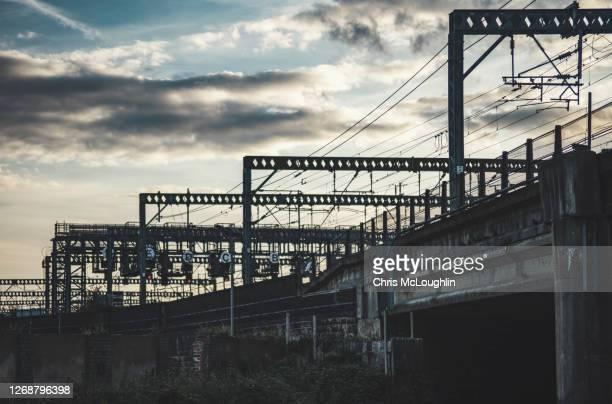 railway bridge - leeds - leeds stock pictures, royalty-free photos & images
