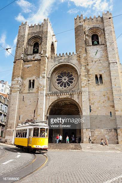 Railway in front of Lisbon Cathedral