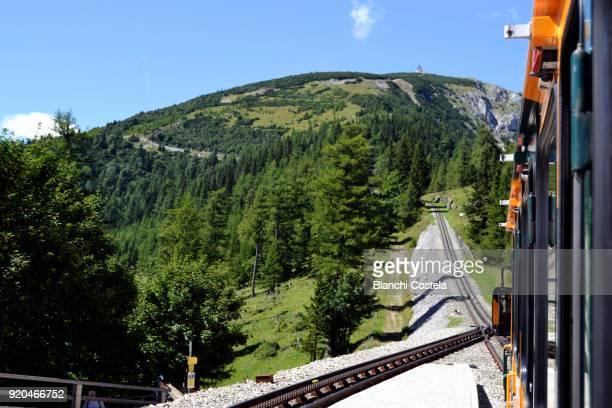 Railway in Schneeberg in Lower Austria