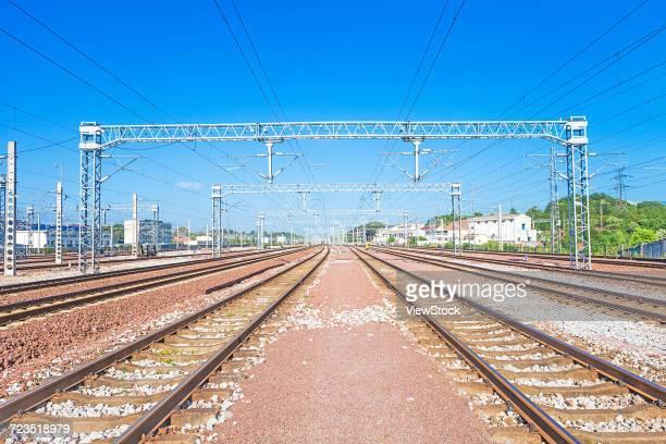 Railway in Shangrao City,Jiangxi Province,China