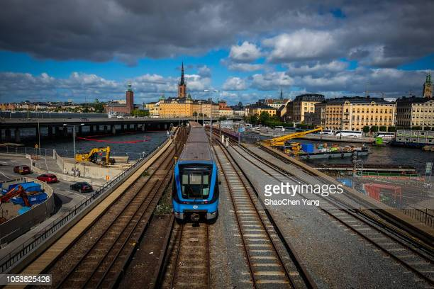 railway in stockholm - swaziland stock pictures, royalty-free photos & images