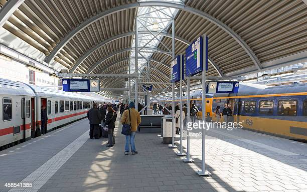 railway platform amersfoort - amersfoort netherlands stock photos and pictures