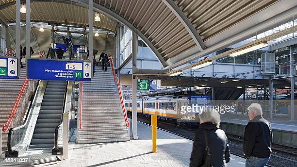 railway platforms in amersfoort - amersfoort netherlands stock photos and pictures