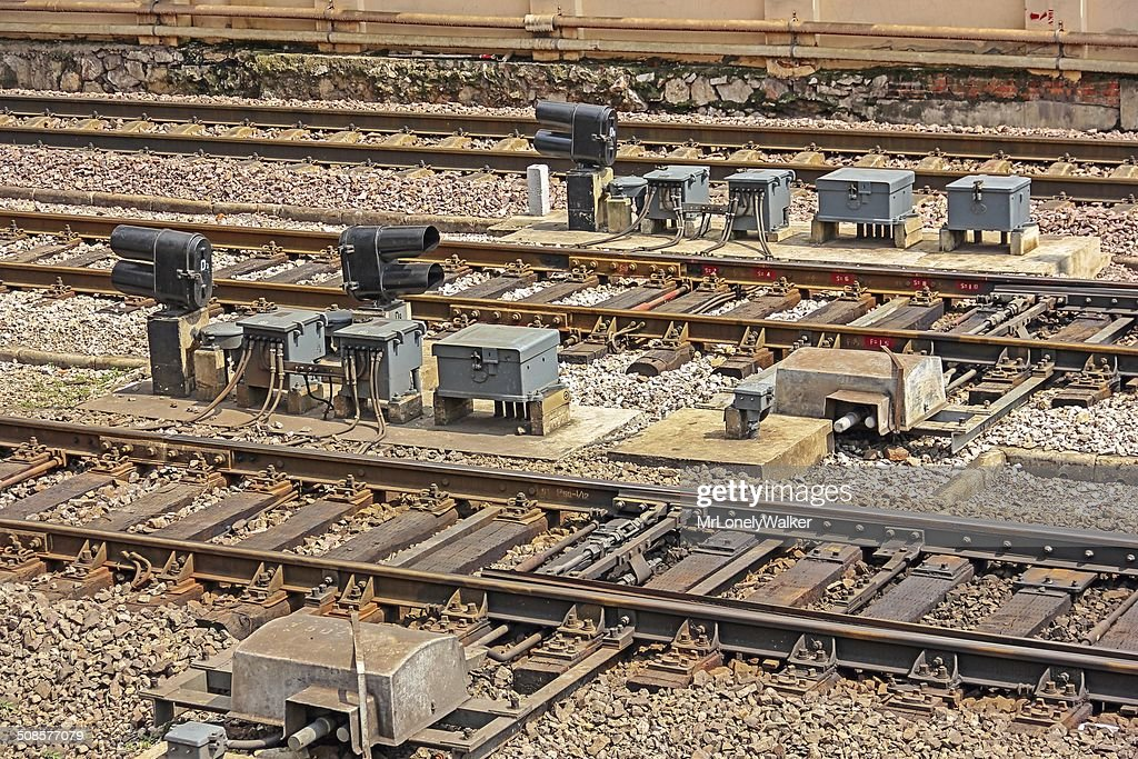 Railway Signals : Stock Photo