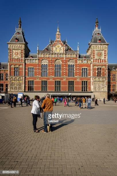Treinstation Amsterdam Centraal, Amsterdam, Nederland