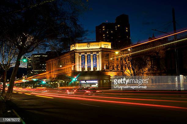 Railway station and Skycity, Adelaide, South Australia, SA, Australia.