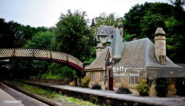 railway station at cromford - bavosi stock pictures, royalty-free photos & images