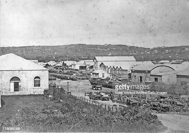 Railway Station Durban A mixed goods train stands in the station yard before departure to the Point or Pinetown At this stage Pinetown was the...