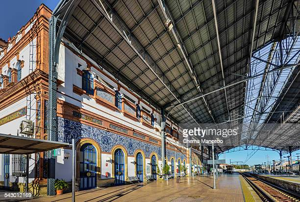 railway station in jerez de la frontera - jerez de la frontera stock pictures, royalty-free photos & images