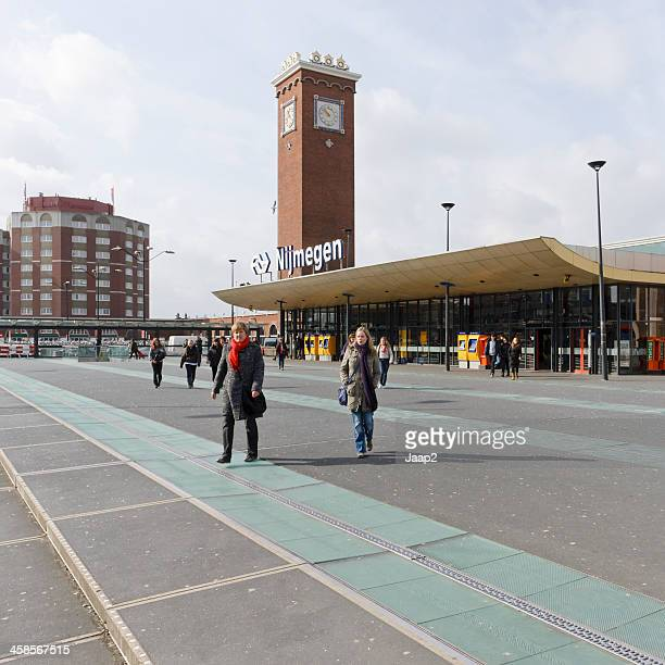 railway station in nijmegen - station stock pictures, royalty-free photos & images