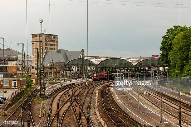 railway station - aachen stock pictures, royalty-free photos & images