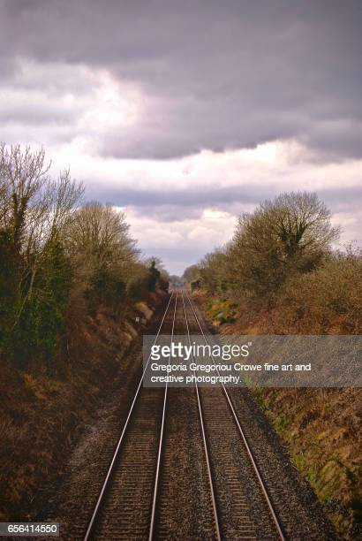 railway track - gregoria gregoriou crowe fine art and creative photography stock pictures, royalty-free photos & images