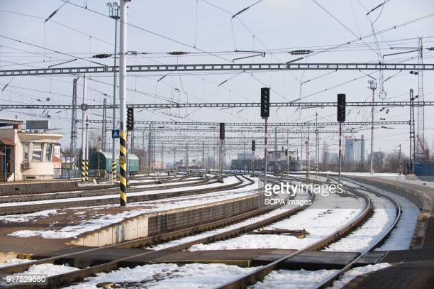 Railway track seen at Bratislava train station Bratislava is the capital city of Slovakia it has a population of just over 420000 in late 2017