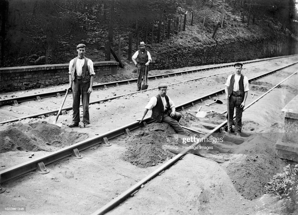 Railway Tracklayers At Work : News Photo