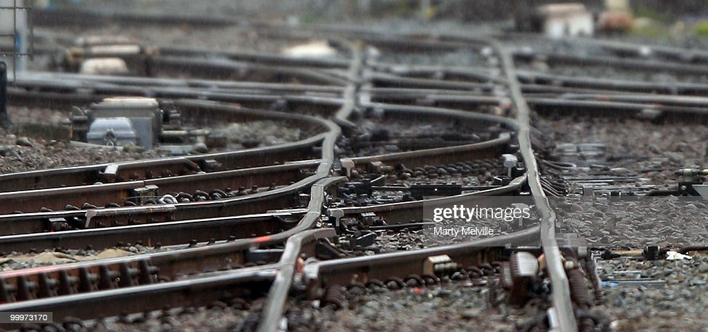 Railway tracks are seen at Wellington Station on May 19, 2010 in Wellington, New Zealand. Finance Minister Bill English will deliver the 2010 Budget at Parliament House on March 20.