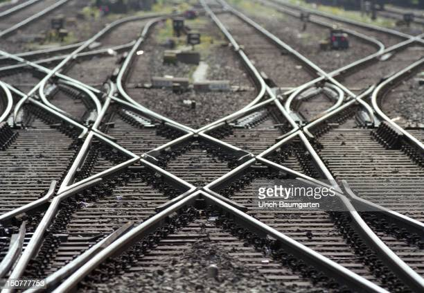 Railway tracks symbolic photo to the topic Deutsche Bahn AG