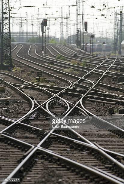 Railway tracks symbolic photo to the topic Deutsche Bahn AG