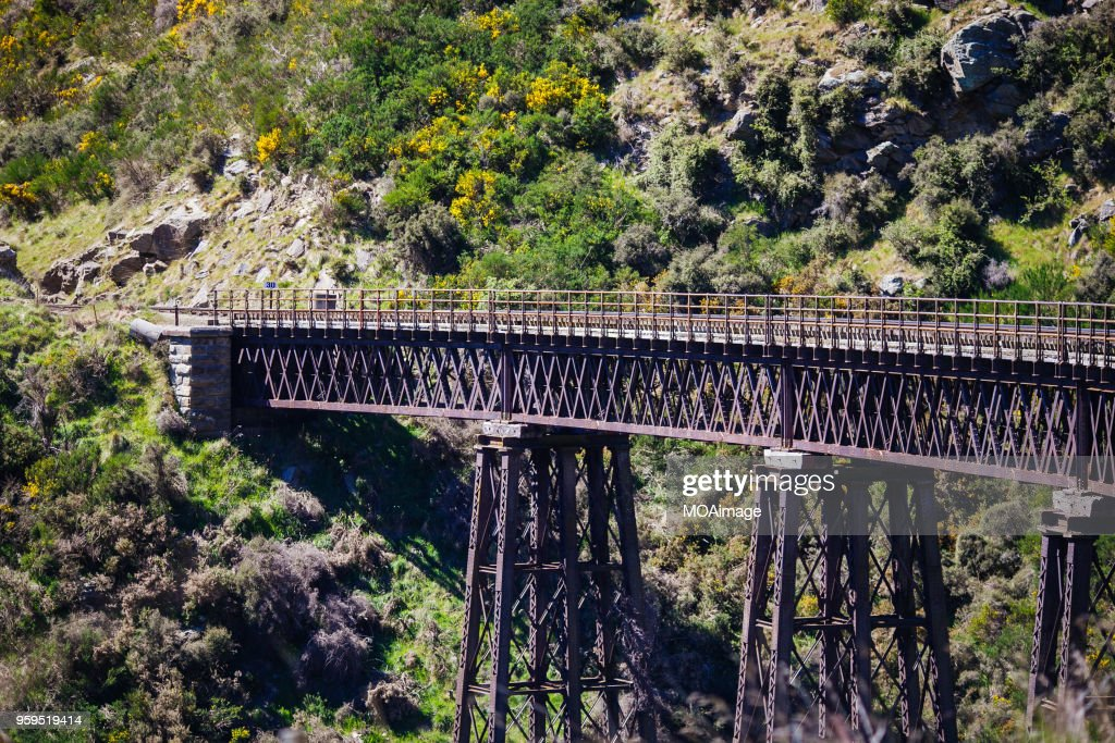 Railway track,South island scenery,New Zealand : Stock-Foto