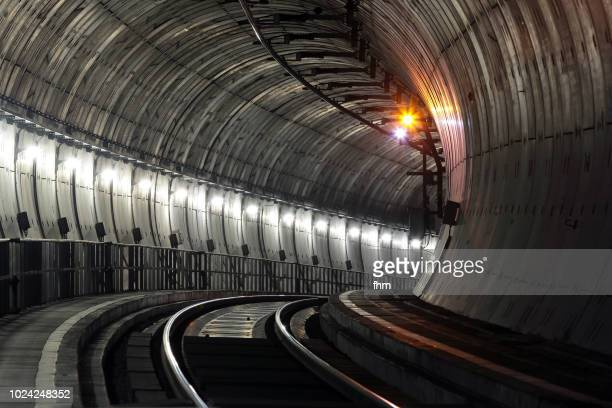 railway tunnel - claustrophobia stock photos and pictures