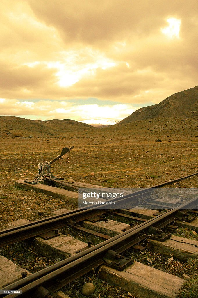 Railways in Patagonia : Stock Photo