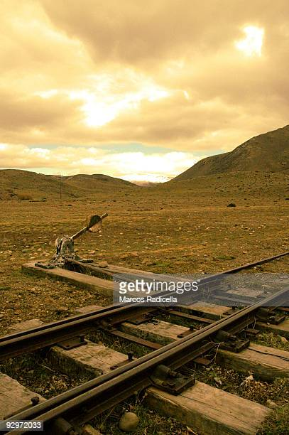 railways in patagonia - radicella stock pictures, royalty-free photos & images