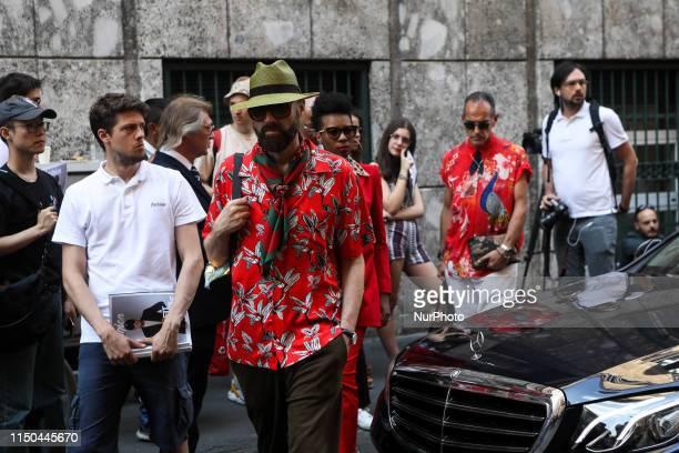 Raimondo Rossi attends Milan Men's Fashion Week, Milano, Italy, on June 17 2019