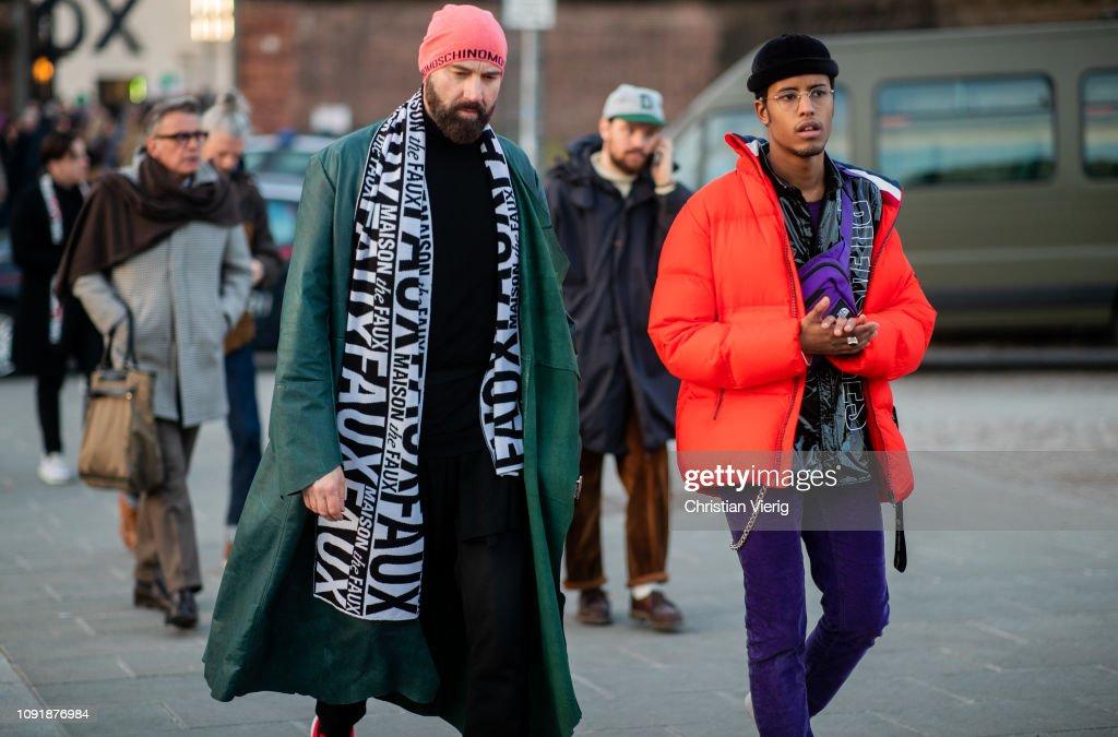 Street Style: January 9 - 95. Pitti Uomo : Foto di attualità