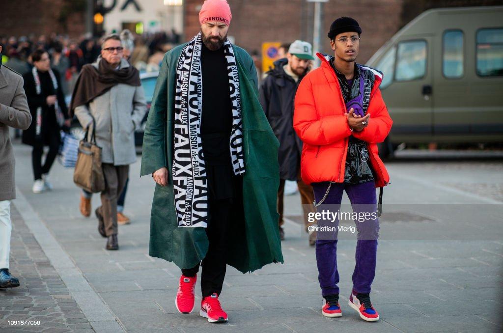 Street Style: January 9 - 95. Pitti Uomo : News Photo